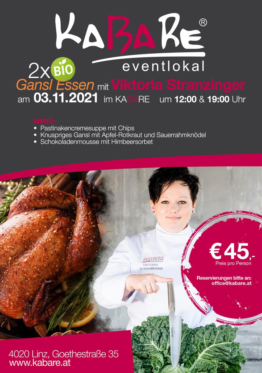 Gansl Essen mit Viktoria Stranzinger